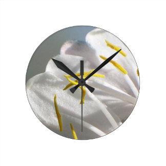 Relógio Redondo Pétalas da flor da madressilva
