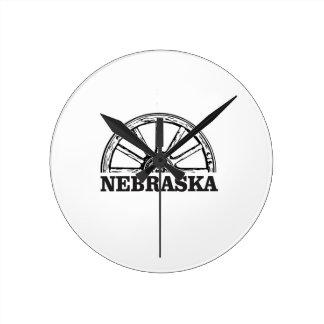 Relógio Redondo pioneiro de nebraska