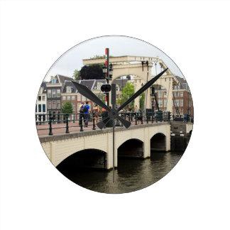 Relógio Redondo Ponte magro, Amsterdão, Holland