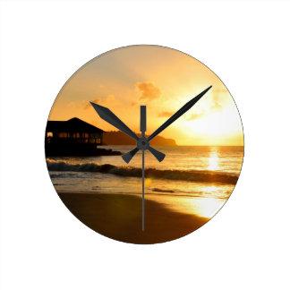 Relógio Redondo Por do sol romântico