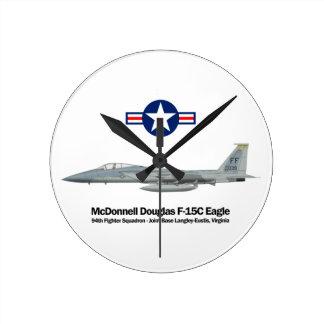 Relógio Redondo Profile F-15C Eagle
