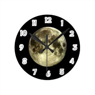 Relógio Redondo Pulso de disparo da Lua cheia
