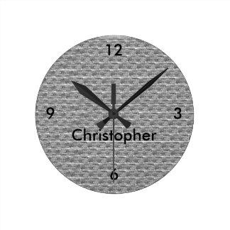 Relógio Redondo Pulso de disparo de parede personalizado design do