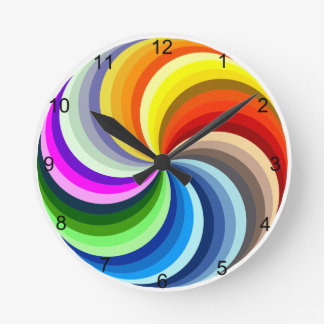 Relógio Redondo Redemoinhos vibrantes