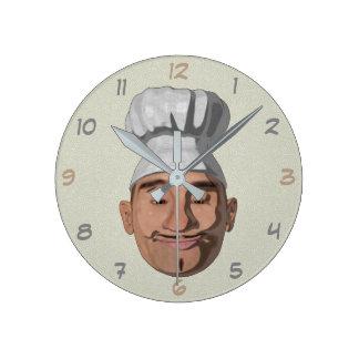 Relógio Redondo Restaurante 2 do cozinheiro chefe