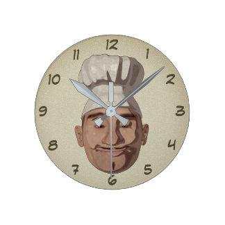 Relógio Redondo Restaurante 3 do cozinheiro chefe