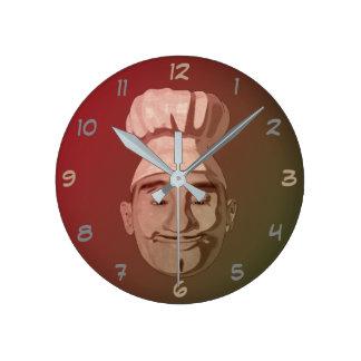 Relógio Redondo Restaurante do cozinheiro chefe