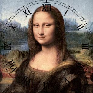 9a701d58244 Relógio Redondo Retrato pintura de Mona Lisa