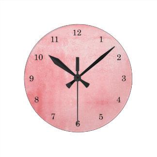 Relógio Redondo Rosa Textured