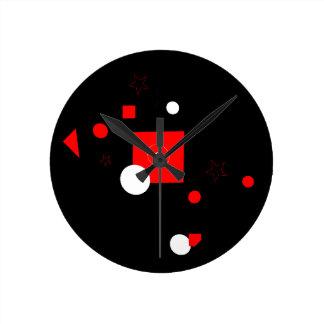 Relógio Redondo Salto do vermelho e do branco