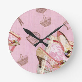 Relógio Redondo Shoes_Pink antigo