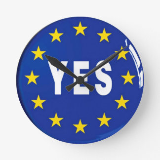 Relógio Redondo Sim à UE - estada na União Europeia