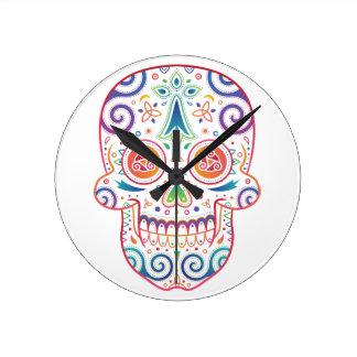 Relógio Redondo tête_mort_celtique