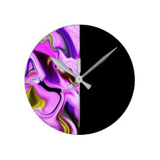 Relógio Redondo Tempo - pulso de disparo da arte abstracta