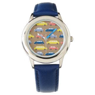 Relógio Retro à moda colorido engraçado dos carros dos