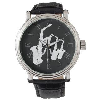 Relógio romano 3 dos números do Jazzman branco do