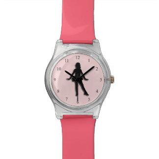 Relógio Rosa do dançarino de torneira