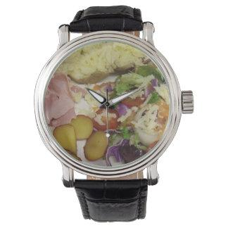Relógio Salada e molho do presunto