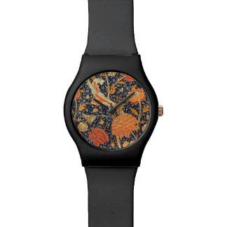 Relogio Teste padrão floral de Nouveau da arte de William