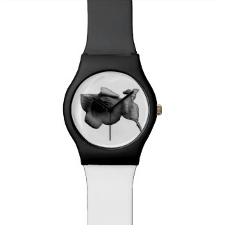 Relógio Wildflower do carvão vegetal