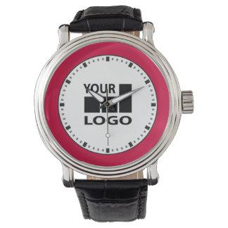 Relógios da cor e do logotipo de Costume Empresa