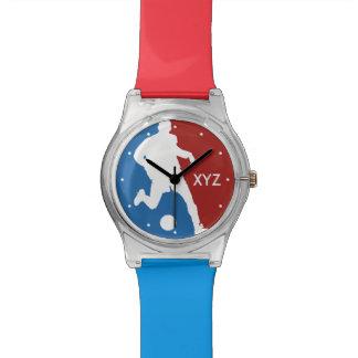 Relógios do costume do jogador de futebol