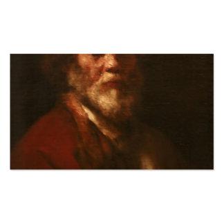 Rembrandt: Retrato do homem, oficina de Rembrandt Cartoes De Visita