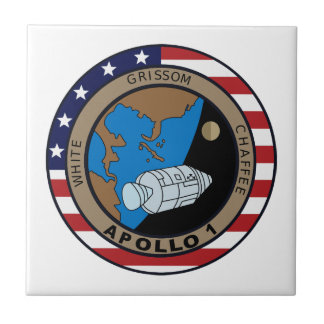 Remendo da missão de Apollo 1 Azulejo Quadrado Pequeno