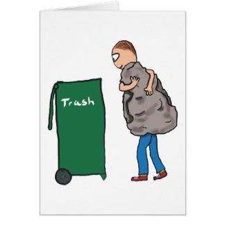 Remova os desperdícios cartão comemorativo