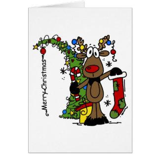 Rena do Feliz Natal Cartoes