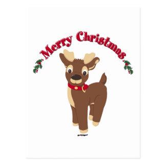 Rena do Feliz Natal Cartão Postal