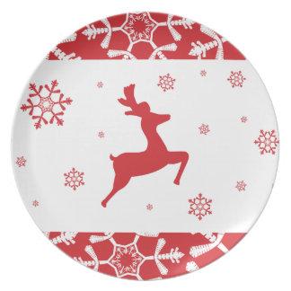 Rena do Natal Louça De Jantar
