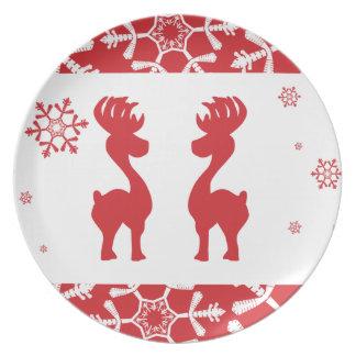 Renas do Natal Louças De Jantar