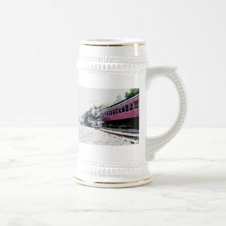 Rendição de Digitas do trem do vapor, BM&R #425 Caneca De Chopp