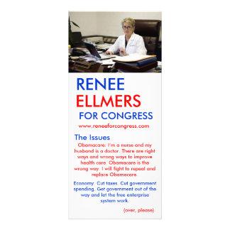 Renee Ellmers para saídas da mão do congresso 10.16 X 22.86cm Panfleto