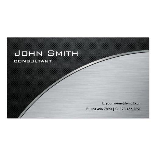 Reparo de prata moderno elegante profissional do c modelos cartão de visita