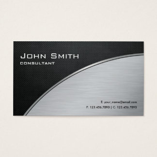 Reparo de prata moderno elegante profissional do cartão de visita