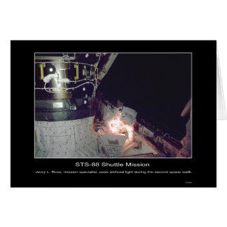 Reparos da caminhada do espaço de Jerry L. Ross Cartão Comemorativo