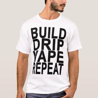 REPETIÇÃO T-Shirt.png escuro do GOTEJAMENTO VAPE Camiseta