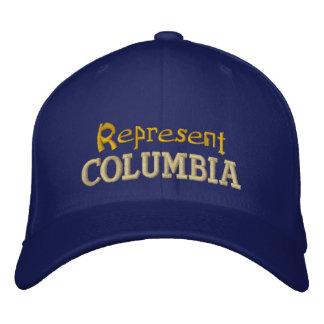 Represente o boné de Colômbia