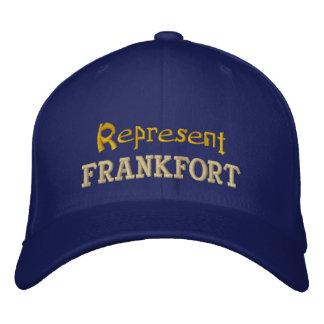 Represente o boné de Frankfort