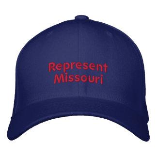 Represente o boné de Missouri