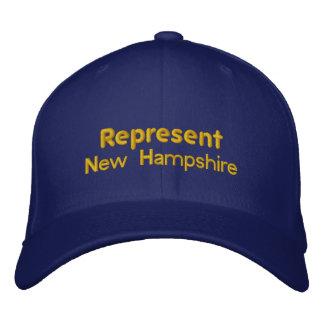 Represente o boné de New Hampshire