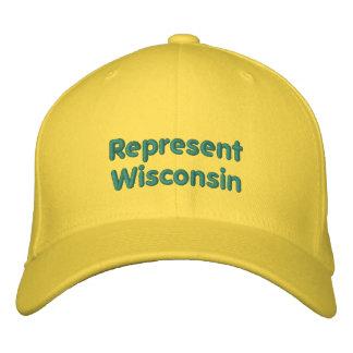 Represente o boné de Wisconsin