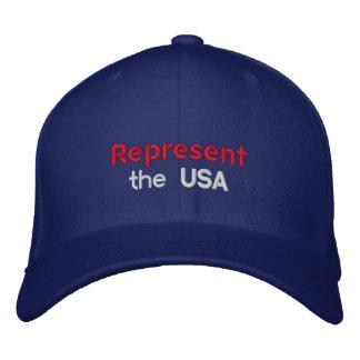 Represente o boné dos EUA