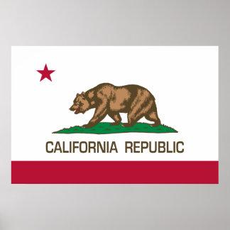 República de Califórnia (bandeira do estado) Poster