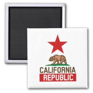 República de Califórnia Ímã Quadrado
