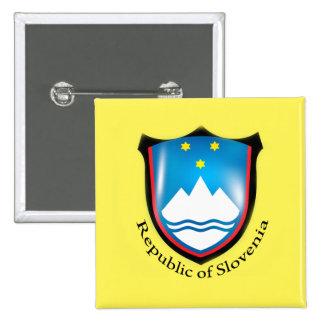 República do botão de Slovenia Bóton Quadrado 5.08cm