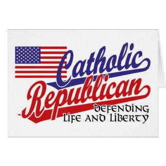 Republicano católico cartao