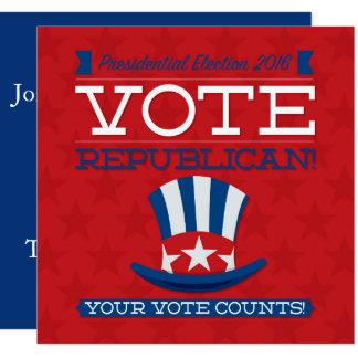 Republicano Convite Quadrado 13.35 X 13.35cm